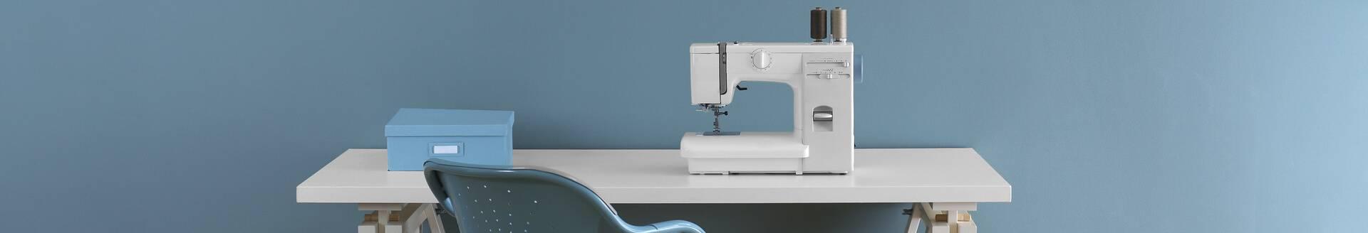Venta de máquinas de coser y bordadoras, domésticas e industriales