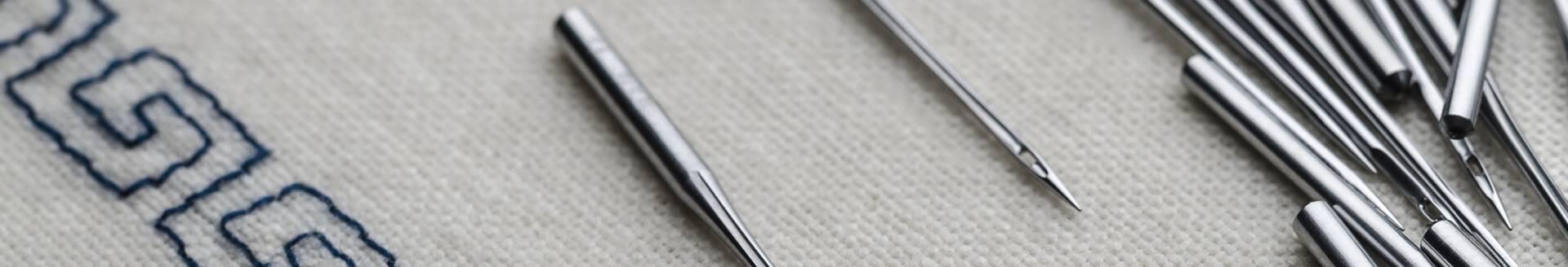 Venta de agujas para máquinas de coser domésticas: jersey, cuero, seda